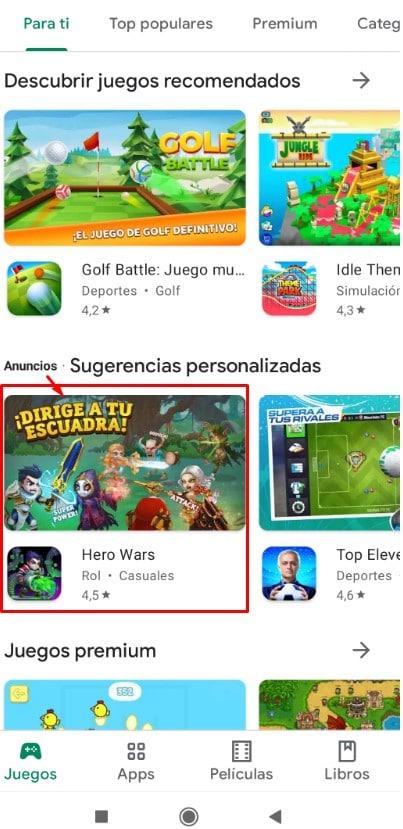 tipos campañas google adwords: aplicaciones