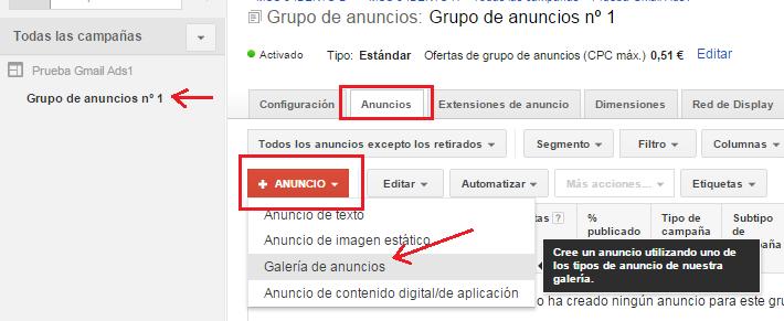Publicidad en Gmail
