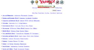 Ver páginas webs antiguas - Yahoo año 1996